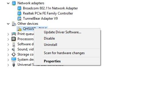 qualcomm hs usb device driver windows 7